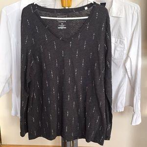 Sonoma V-Neck Long Sleeve Y-Shirt